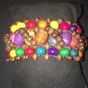 Jewelry - Multicolored Beaded Stretch Bracelet
